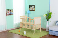 New Design Solid pine wooden new born baby bed