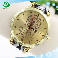 2015 New Fashion Cute Handcrafted Woven Quartz Watch Band