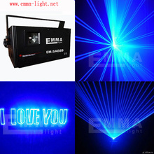 2w blue Disco Stage Light Laser Projector Sound / Music Active Dj Equipment for Club Dj Bar Party Special Effect Lighting