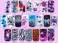 Butterfly Flower Rubberized Hard Plastic Cover Case for Samsung Galaxy S3 mini i8190 Case