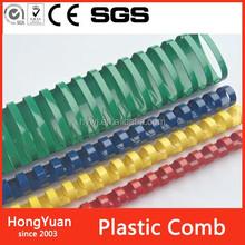 10 mm binding 65 sheets turtle plastic comb, hair salon round plastic comb, tranparent plastic comb