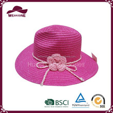 China product summer beach straw hat,Pieces of red straw hat for girls