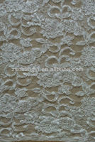 corded french floral lace fabric