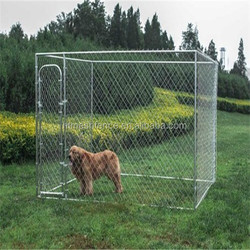 7 1/2' x 7 1/2' x 6' Chain Link Dog Cages