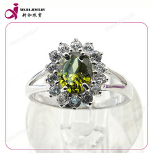 Special fashion design rose gold cubic zirconia ring cz jewelry