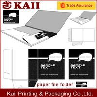 custom the paper file folder with flap, pvc folder, pp folder in China for many years