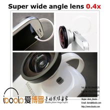 Manufactory!!! Universal clip 0.4x super wide angle mobile lens