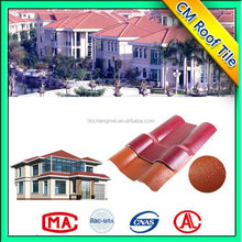 Spanish decorative synthetic resin roof tiles, made in China