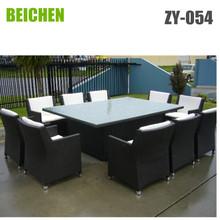 beichen Large Rattan garden Outdoor Furniture Dining Set for 10 people