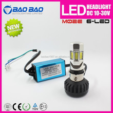 Ultra bright 6side motorcycle headlight kit 3500lumen 35w factory wholesell automotive M02E LED Headlight--BAOBAO LIGHTING