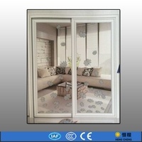 Fashion apartment wooden doors design with glass