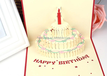 birthday cake 3d pop up greeting card design