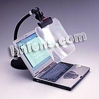 Transparent color fresnel lens computer magnifier