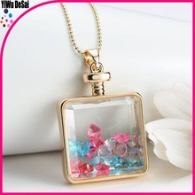 Best Selling Beautiful Women heart-shaped Decoration Crystal Necklace