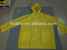 kids yellow waterproof rain jacket
