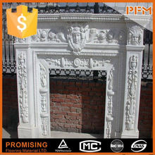 China supplier for nature stone personalized stone fireplace marmer fireplace