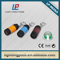 1 LED mini led flashlight keychain with USB
