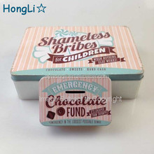 Full Color Printed Biscuit Cookie Chocalate Metal Tin Box / Metal Tin Container for Food Package