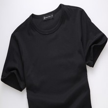100% cotton black man T-shirt