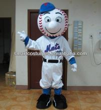 wholesale mr met costume met mascot EVA plush handmade mr met mascot costume for adult