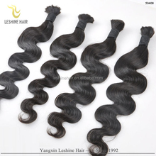 Wholesale 2015 Fashion Hair Nets Super Good Quality Full Cuticle brazilian bulk hair extensions without weft