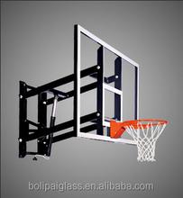 wall mounting high adjustable glass basketball stands
