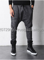 Drop Crotch Sweatpants-customized fashion drop crotch sweatpants-Mens Plain Drop Crotch Sweat Pants