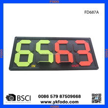 manual player change board, football substitution board, player change board(FD687)