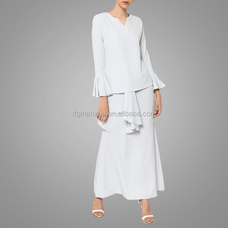 Newest white muslim women baju kurung wholesale islamic plus size women clothing1.jpg