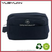 2015 Recommend Excellent Quality Cheap Personalized Nylon Men Plain Black Bulk Cosmetics Bag
