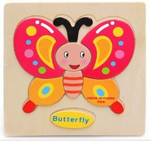 Kids educational toys wooden toy puzzle preschool toy 3D puzzle