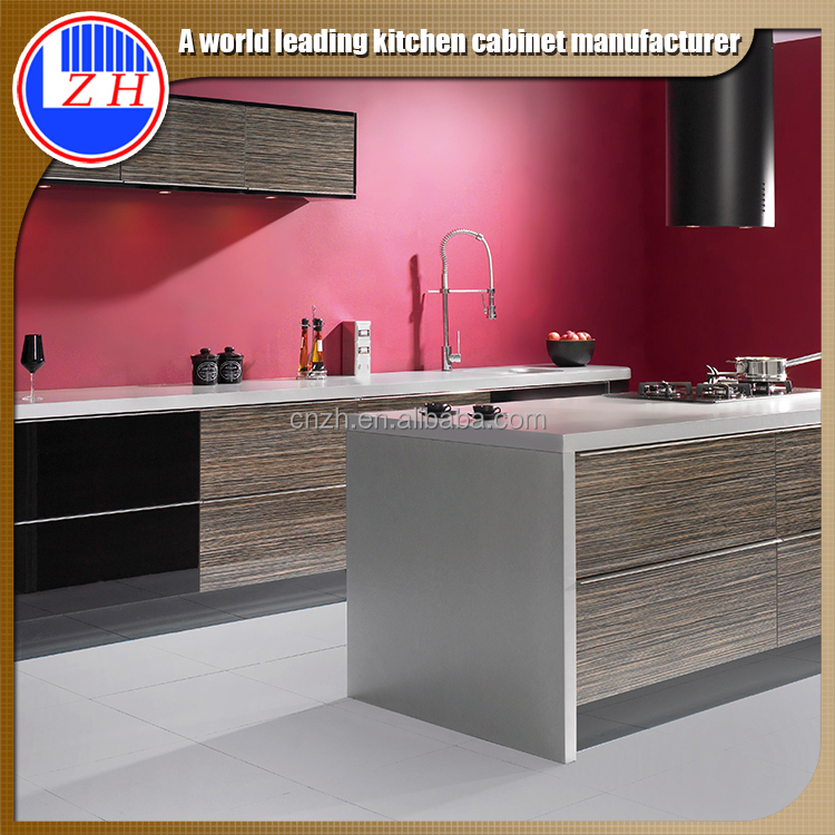 Best price red color kitchen cabinet kitchen furniture for Best prices kitchen cabinets