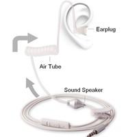 NEW Stereo Air Tube Anti-radiation Headsets Radiation Proof Earphone Headphone 3.5mm MIC White High tech