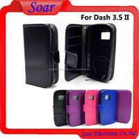 Alibaba Crazy horse leather case for blu dash 3.5 ii , for blu dash 3.5 ii 2 d342l d352u case