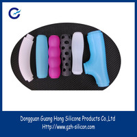 Factory customized soft luggage plastic handle silicone sleeves