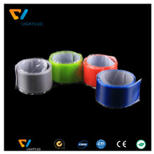 high light personalized logo print reflective PVC snap armband for promotion