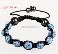 The latest fashion jewelry shamballa style beads cord bracelet