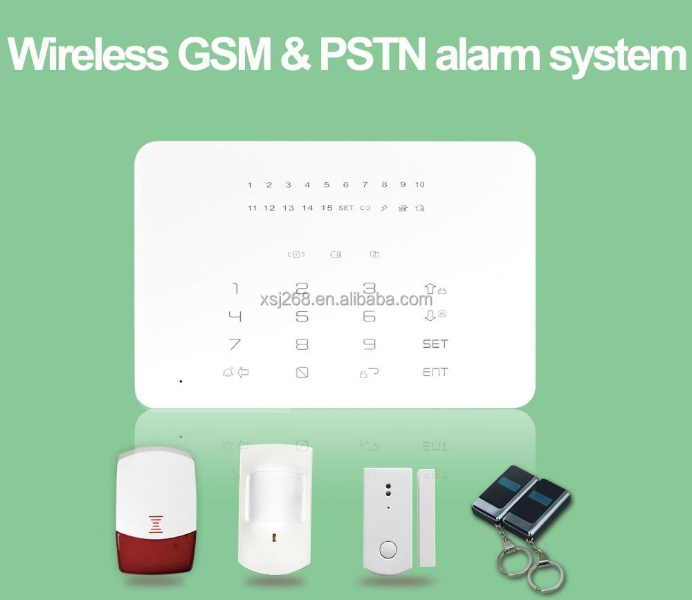 wireless security led alarm system with keypad. Black Bedroom Furniture Sets. Home Design Ideas