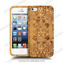 Bamboo stylish mobile phone back cover for iphone 5 cover.