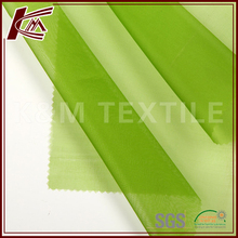 china supplier 100% pure silk fabric dyed organza fabric