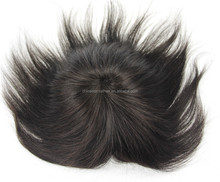 Silky straight human hair piece toupee for black women