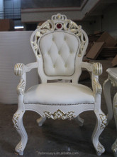 hand carved baroque office chair/royal classic european furniture