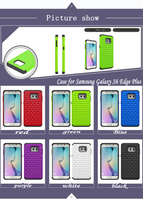 Hot selling 3D Sublimation Diamond Combo Phone Case for Samsung Galaxy S6 Edge Plus N928V N928A Cover