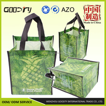 alibaba china used polypropylene non woven laminated promotional cloth carrying printed reusable shopping garment packaging bags