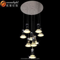 Modern residential luxury acrylic led indoor pendant lamps OM1018-9A