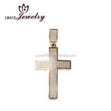 Custom made 925 sterling silver jewelry invisible setting christ cross charms