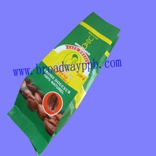 private logo coffee pack side seal aluminum foil gusseted bag