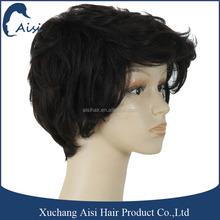 New fashion short cut human hair wigs black curly wig for black women