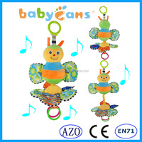 Lovely baby toy baby musical hanging toy soft plush animal bee plush toy