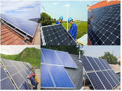 High quality mono crystalline solar panel for home solar power system Power:300W to 100KW